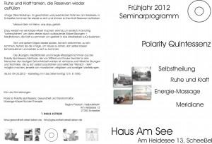 Kurse Frühjahr 2012