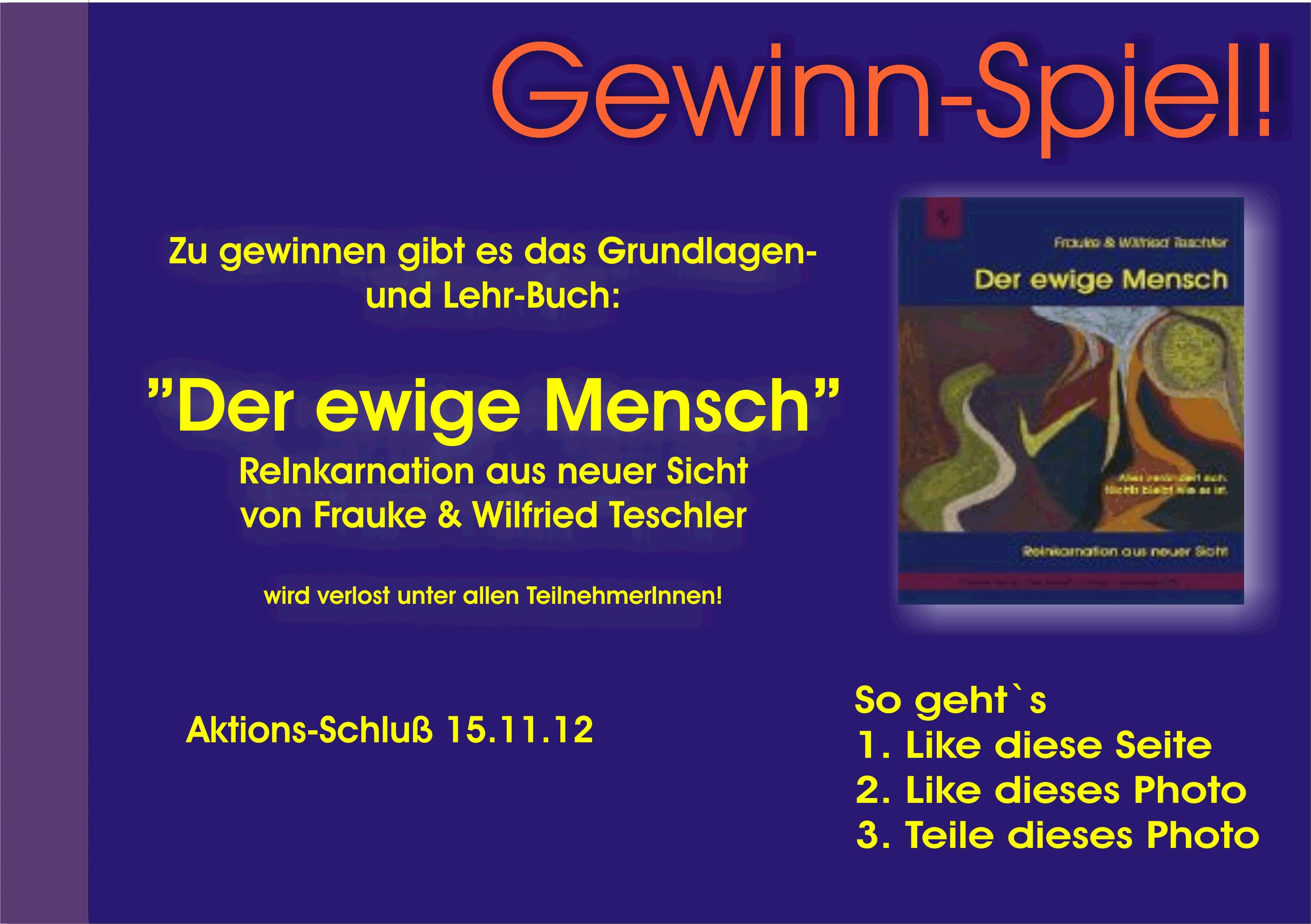 """Gewinne """"Der ewige Mensch"""" - ReInkarnation aus neuer Sicht"""