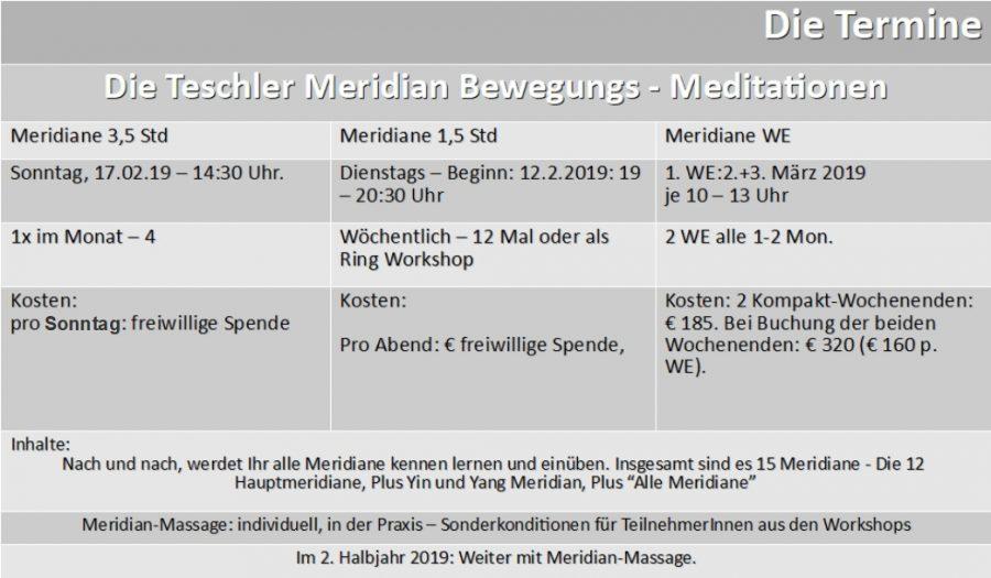 Polarity-Info 012019, Liste der Seminare 2